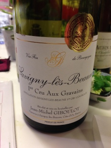 """From Vins des Tonneliers, a 2008 Savigny-les-Beaune first grand cru """"Aux Gravains"""" rouge."""