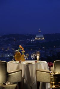 The view from Rome Cavalieri. Courtesy Rome Cavalieri